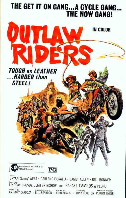 1970s Biker Movies | Реж. Tony Houston. В ролях Bryan «Sonny» West, Bill Bonner.
