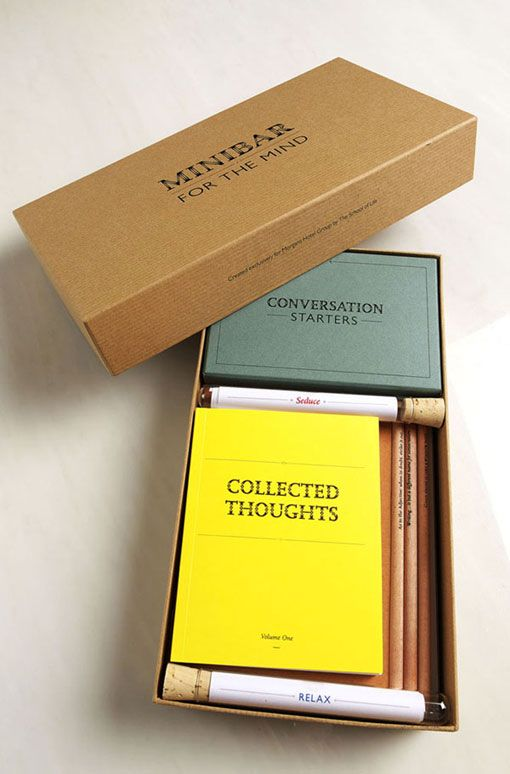 "Morgan's Hotel Group provides a Minibar for the mind containing a ""mid­night feast of intel­lect, inspi­ra­tion and ideas"""