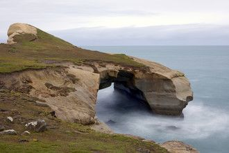 Tunnel beach is misty and mysterious up-close - don't forget to keep a lookout for fossils.