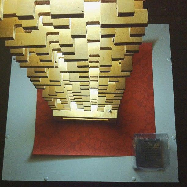 "@Melbourne Fringe's photo: ""It's a tower, it's a jigsaw puzzle...no, it's a super groovy lamp! #mfringe #lighting #fringefurniture #design #wood"""