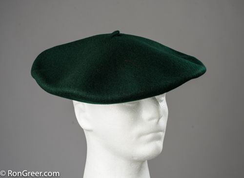 Dark Green 12.5 inch Super Luxury Elosegui Basque Beret. I only have 8 of these!  Order yours here: http://www.rongreer.net/product/12-5-inch-basque-beret-in-dark-green/