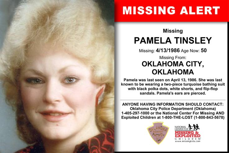 pamela tinsley missing  oklahoma city   april  age  crimewatchersnet
