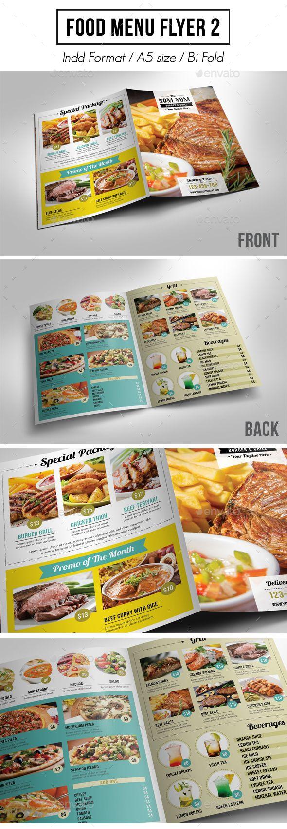 White apron menu warrington - Food Menu Flyer 2