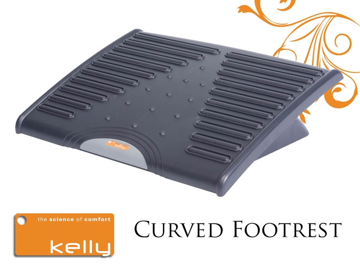 Adjustable Curved Tilting Footrest with Ergo massage bars. www.kellyrest.com KCS. Kelly Computer Supply