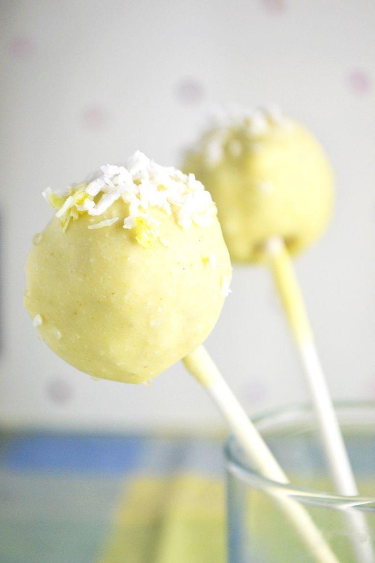 Raw Cake Pops! Lemon Chia Seed flavour (tastes like lemon poppy seed muffin!)