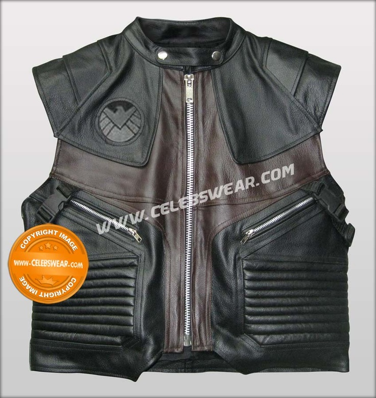 Avengers 2012 Hawkeye Halloween Leather Vest Costume  Hawkeye Avengers Leather Costume Vest worn by Jeremy Renner in the movie Avengers 2012. Made with finest cowhide leather, Buy and Enjoy Special  Discounted Price at Celebswear.com