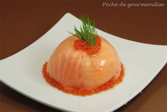 dôme de saumon fumé au fromage frais