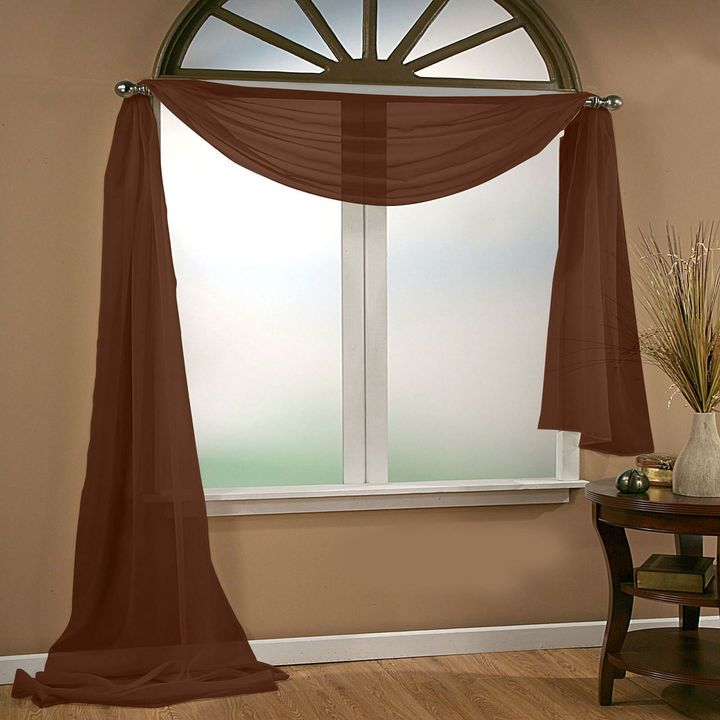 Sheer Scarf Valance Window Treatments Part - 31: Asstd National Brand Infinity Sheer Scarf Valance