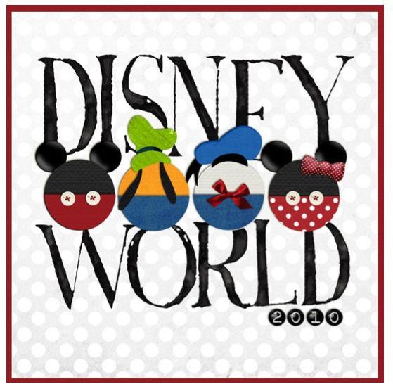 title page Disney scrapbook