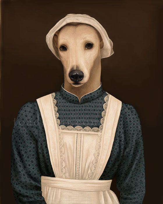Anna Greyhound-Portrait Downton Abbey 8 x 10 Signed von toadbriar