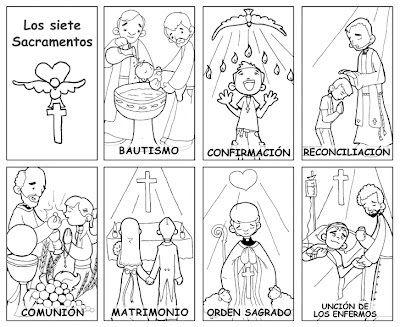 Dibujos para catequesis: LOS SACRAMENTOS - 7 Sacraments