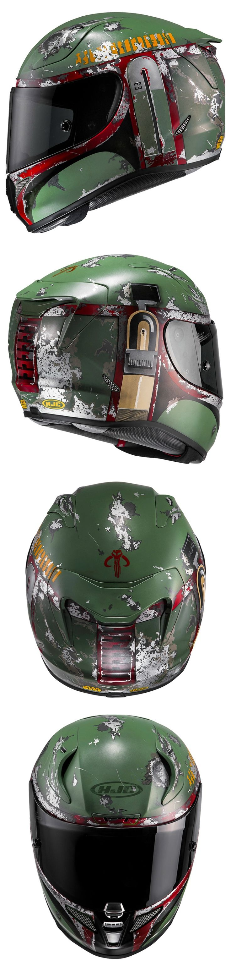 HJC Official Bobba Fett RHPA11 Helmet www.mad4bikesuk.co.uk #mad4bikesuk