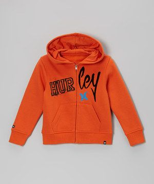 Look what I found on #zulily! Hurley Blaze Orange Zip-Up Hoodie - Toddler by Hurley #zulilyfinds