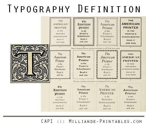 What does Typography mean ? Typography Definition