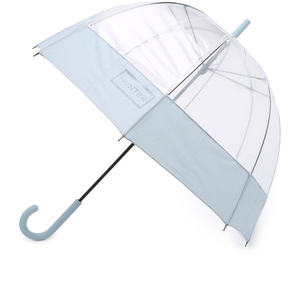 Hunter Boots Original Mustache Bubble Umbrella (988250 BYR) ❤ liked on Polyvore featuring accessories, umbrellas, porcelain blue, see through umbrella, bubble umbrella, blue umbrella and transparent umbrella