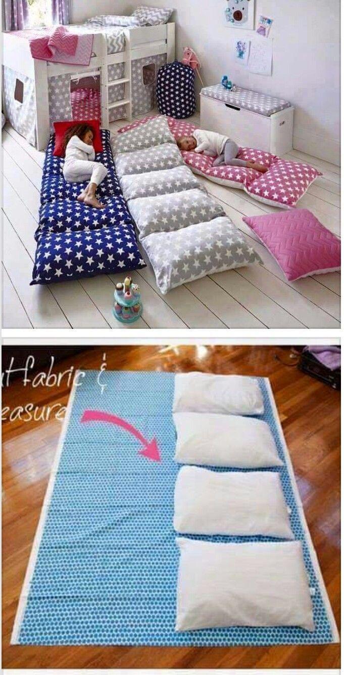 Bodenmatratze ganz einfach selber nähen und mit Kissen füllen