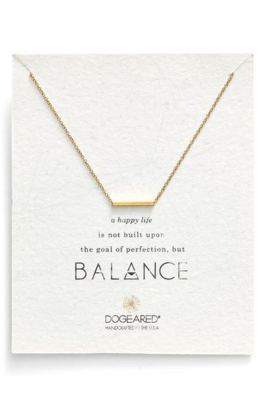 Dogeared 'Balance' Bar Pendant Necklace (Nordstrom Exclusive) available at #Nordstrom