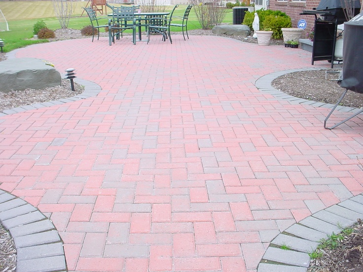 Red Hollandstone Brick Paver Patio Patio Brick Paver