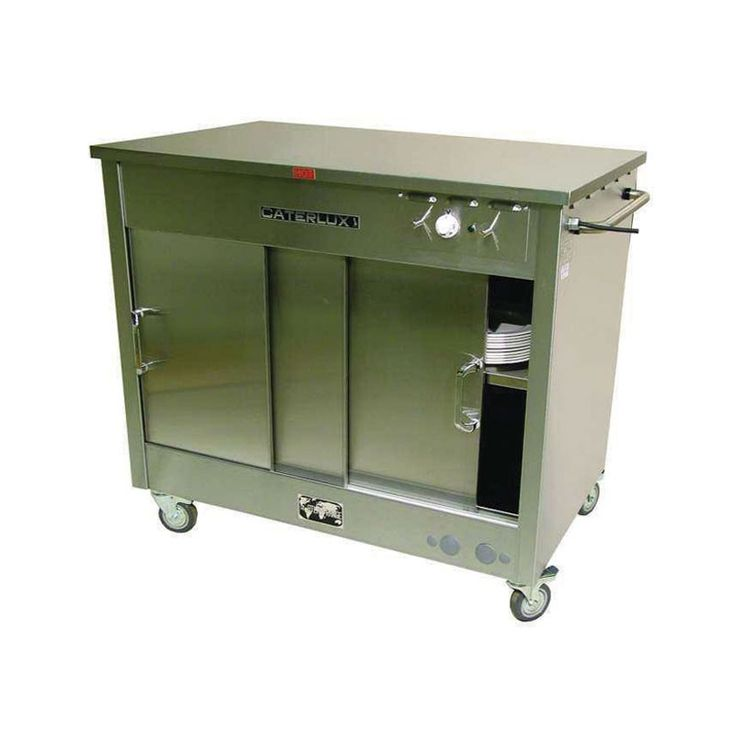 Gas Hot Cupboard  This LPG fuelled stainless steel hot cupboard can store up to 66 plated meals (with plate rings). NB: Specifications may vary with model. It is the responsibility of the hirer to arrange for the installation and connection on-site of any gas appliances to be carried out by a corgi registered engineer.