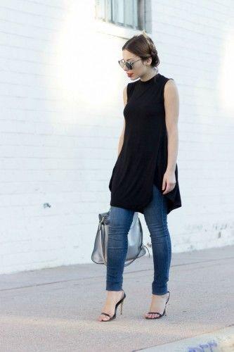 black dress over pants