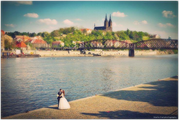 River Vltava - Prague Wedding Photography