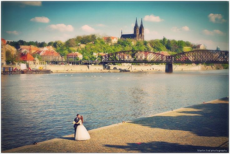 River Vltava - Prague Wedding Photography