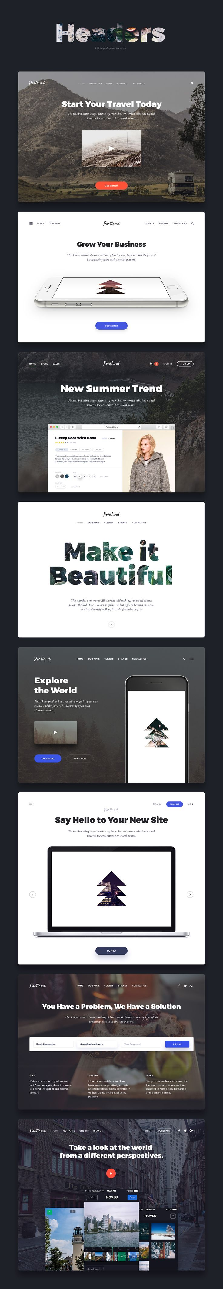 Portland UI Kit on Web Design Served
