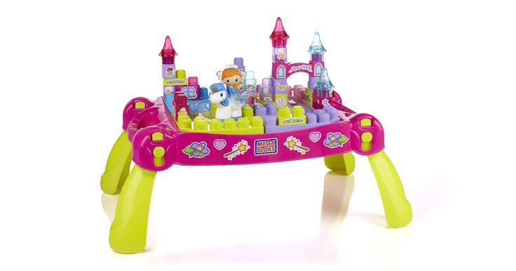 Give your little fairytale fan her own mystical doorway to the Lil' Princess world with the Mega Bloks Lil' Princess Play 'n Go Fairytale Table. Set the table anywhere you want on its four sturdy legs and let your child build her own little royal court limited only by her imagination. This beautiful building table provides a pretty platform for all kinds of glittering builds and whimsical adventures, with 25 sparkling Lil' Princess blocks, a Lil' Princess with a magical pop-up tiara and her…