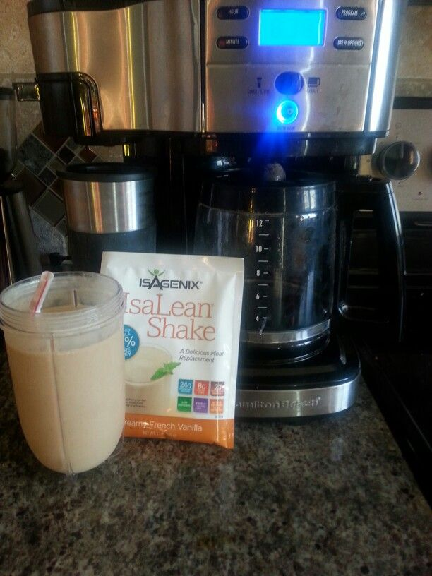 IsaLean Vanilla Coffee Shake  1 cup freshly brewed coffee 1 packet IsaLean French Vanilla 6 ice cubes  *Place hot coffee in freezer for 20 min. Put all igredients in blender, add cold coffee, blend for 15 seconds. Enjoy!   Shaunaseverson.isagenix.com