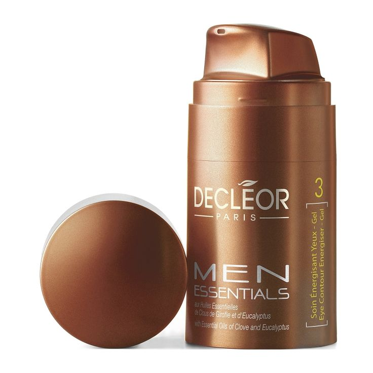 Men's Decleor Eye Contouring Energiser Gel. This gel protects and freshens the eye area while also nourishing with jojoba oil and firming with frankincense essential oil. Come and explore more of Decleor's Men's skincare line at Apsaraspa.com