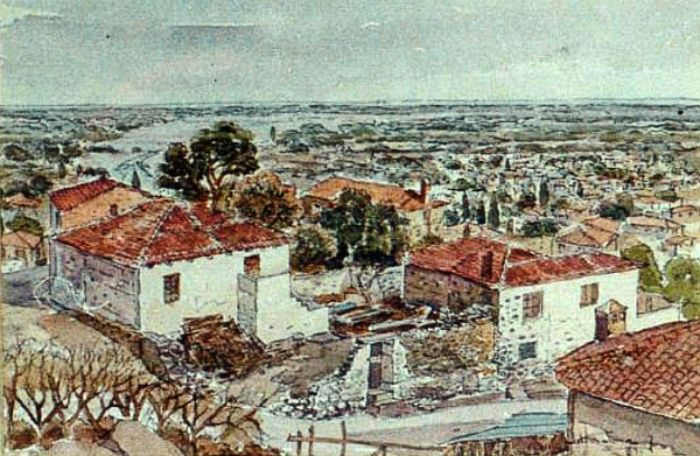 Dimitris Stathopoulos (1946-2017) – watercolor and pen and ink on paper http://67100.gr/stathopoulos/images/penakia/indexe.php?path=./&page=0&idx=4