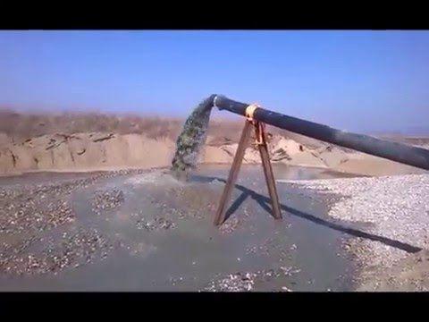 Испытания гидравлического погружного землесоса с рыхлителем при добыче ПГС