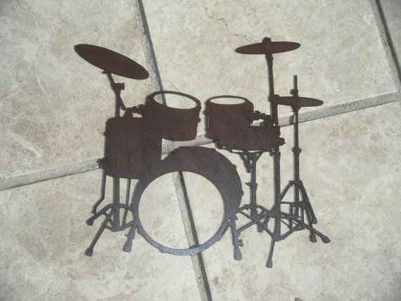 Batterie instrument de musique composé d'un par Decosiluetas