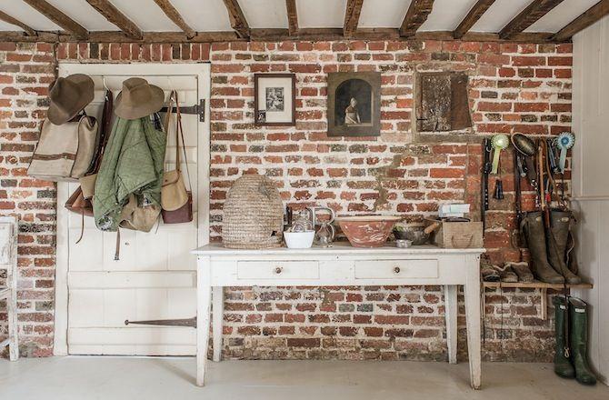 interior design: Walnuts Farm  ((accent walls)) metal, wood & brick ...