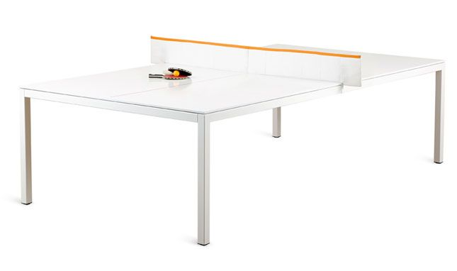 A Ping Pong Table and Conference Table In One