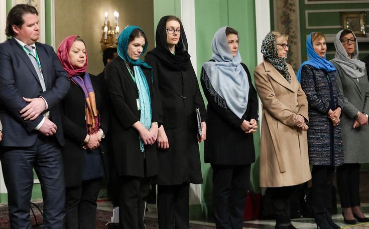 """Sweden's """"first feminist government in the world"""" parades in hijab submitting to Iran's Rouhani despite pleas from Iranian women """"to stand for their own dignity"""" - The Geller Report"""