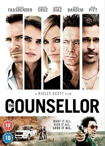 The Counsellor DVD 2014 Brad Pitt Cameron Diaz - Free Post