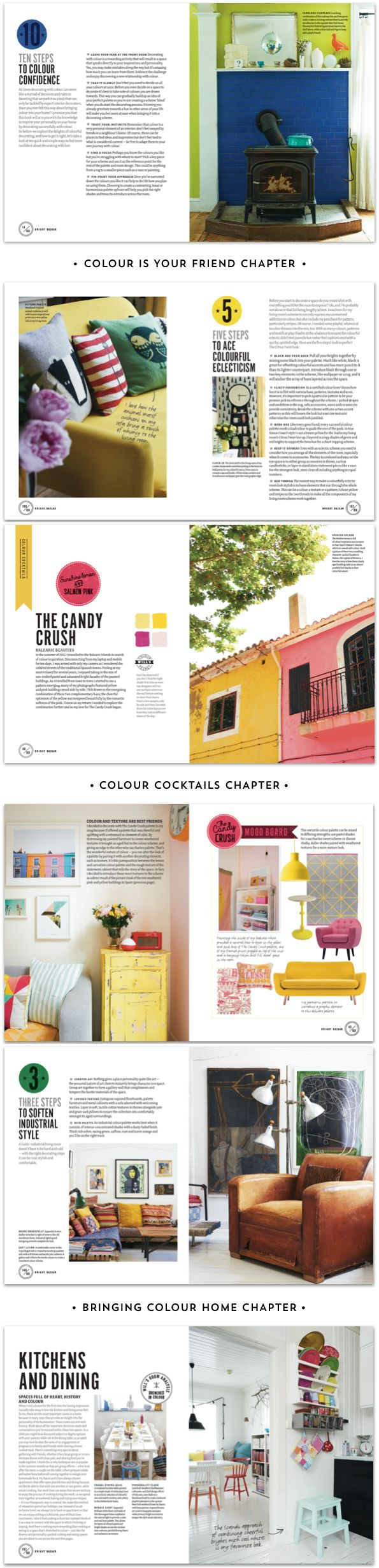 The BRIGHT BAZAAR BOOK is full of colorful decorating ideas that you can try today no matter the size of your home! http://www.amazon.com/gp/product/1250042011