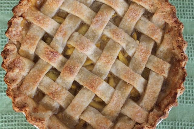 The Little Epicurean | Peach Lattice Pie