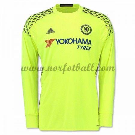 Billige Fotballdrakter Chelsea 2016-17 Keeper Hjemme Draktsett Langermet