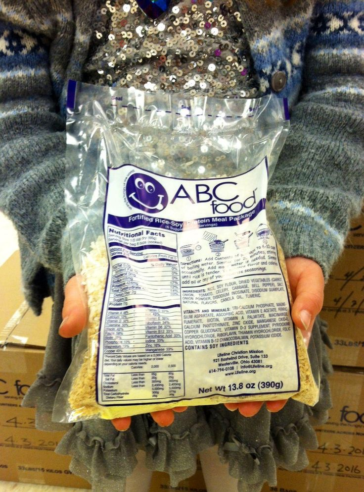 You can buy bags of ABCFood that will go directly to your child's family
