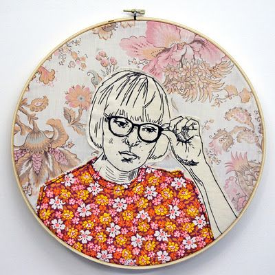 Embroidery + applique, by  Lucky Jackson in her 365 Lucky Days Project.