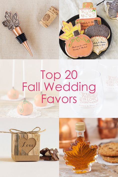 Planning a fall wedding? Find the perfect fall wedding favors all in one place!