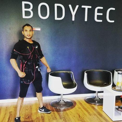MMA fighter Dansheelmoodley training at the BODYTEC Uhmlanga studio. #MMA #challengeyourself #fit #strengthtraining #boss #trainsmarter #ems #fit #workout #exercise #20minutes #onceaweek #bodytecsa