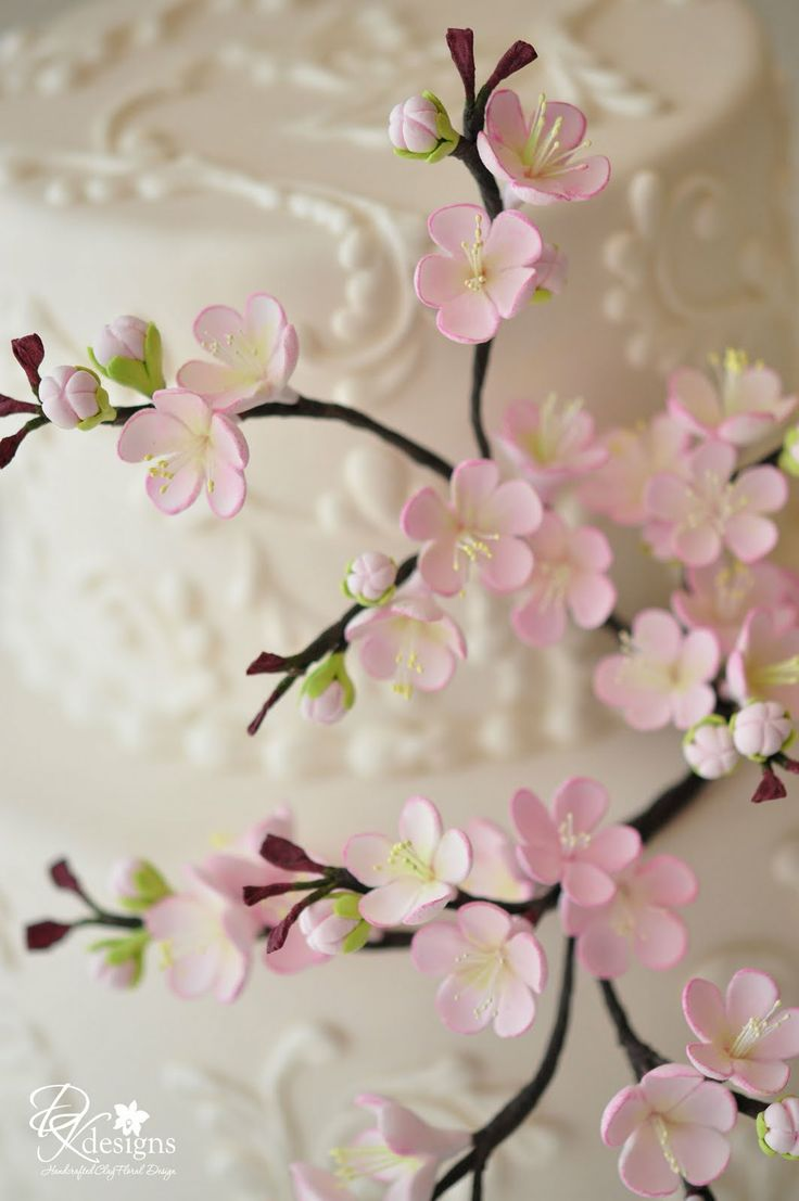 cherry blossom cake.