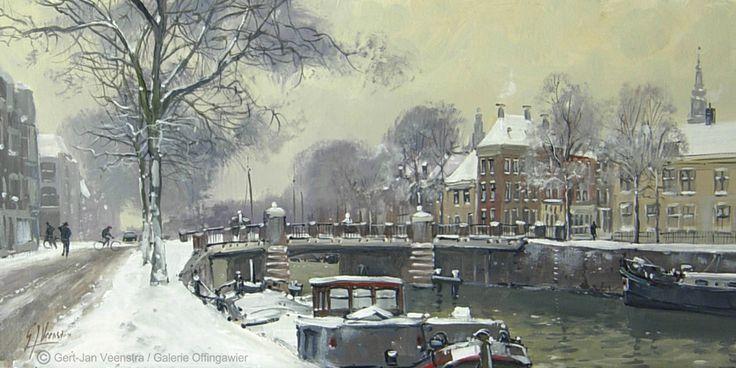 Groningen Noorderhaven. Olieverf op paneel 15x30cm. --sold-- ©Gert-Jan Veenstra www.galerie-offingawier.nl