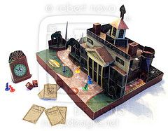 Awesome free Haunted Mansion papercraft board game!