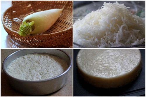 Fried Radish Cake: Ingredients