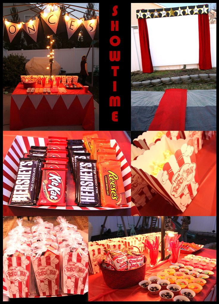 Outdoor Movie Night Birthday Party Image Mag