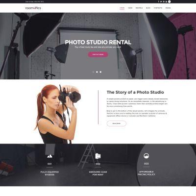 WordPress Template for Room4Pics - Photo Studio Rental Website